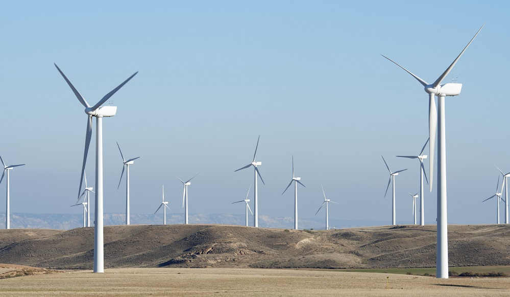 land leased for wind turbines