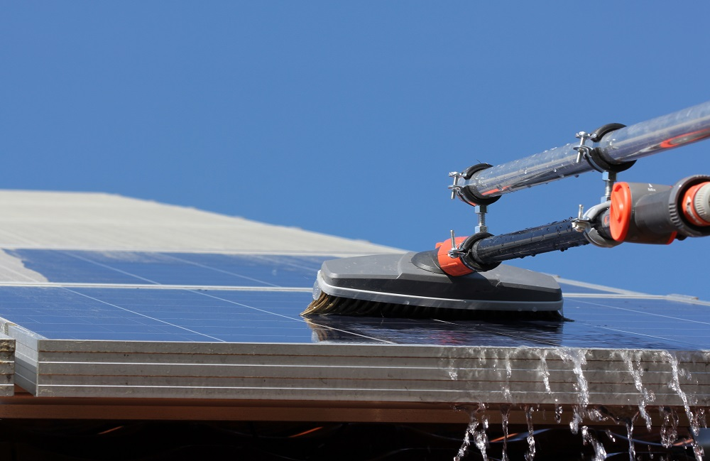 tool designed to clean solar panels
