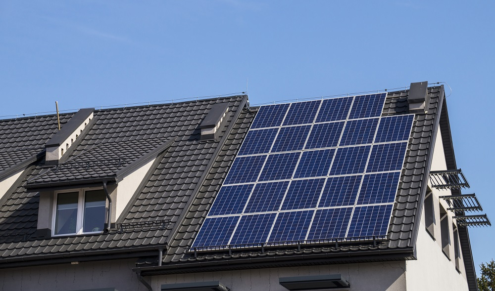 Solar Panels Installed on Metal Tile Roof